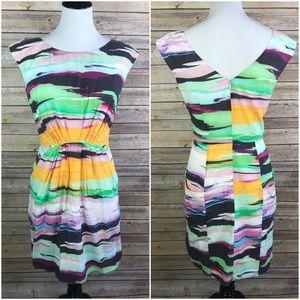 Shoshanna Serena Rainbow Silk Dress